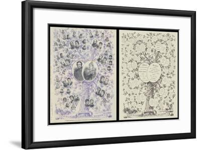 A Jubilee Genealogical Tree, Showing the Descendants of Her Majesty Queen Victoria--Framed Giclee Print