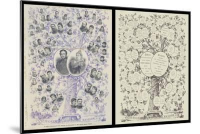A Jubilee Genealogical Tree, Showing the Descendants of Her Majesty Queen Victoria--Mounted Giclee Print
