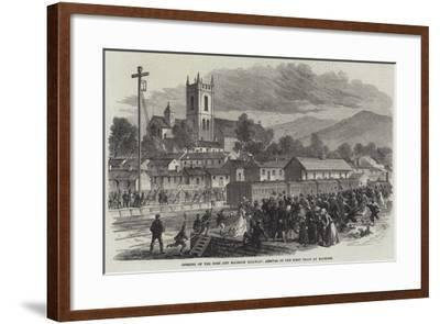 Opening of the Cork and Macroom Railway, Arrival of the First Train at Macroom--Framed Giclee Print