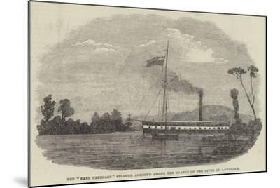 The Earl Cathcart Steamer Aground Among the Islands of the River St Lawrence--Mounted Giclee Print
