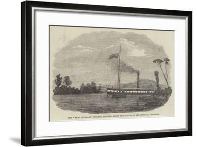 The Earl Cathcart Steamer Aground Among the Islands of the River St Lawrence--Framed Giclee Print