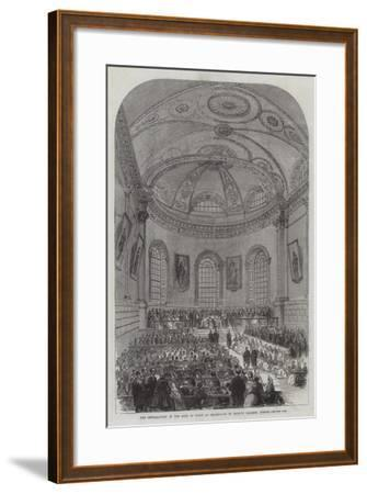 The Installation of the Earl of Rosse as Chancellor of Trinity College, Dublin--Framed Giclee Print