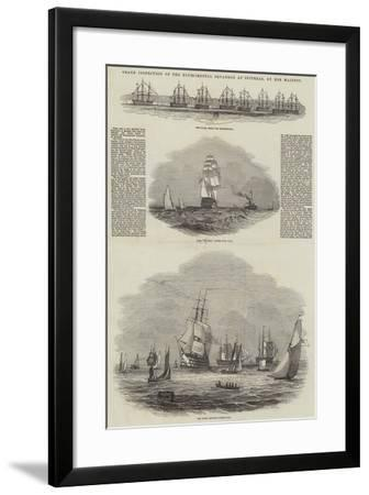 Grand Inspection of the Experimental Squadron at Spithead, by Her Majesty--Framed Giclee Print