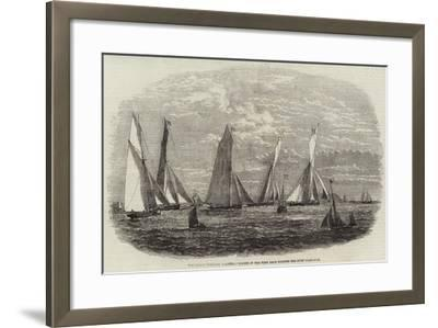 The Dublin Harbour Regatta, Yachts in the First Race Winding the First Flag-Boat--Framed Giclee Print