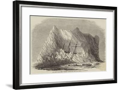 Hm Arctic Steam-Vessel Intrepid Driven Forty Feet Up an Iceberg, in Baffin's Bay--Framed Giclee Print