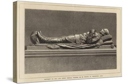 Monument to the Late Prince Imperial Proposed to Be Erected in Westminster Abbey--Stretched Canvas Print