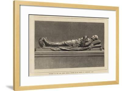 Monument to the Late Prince Imperial Proposed to Be Erected in Westminster Abbey--Framed Giclee Print