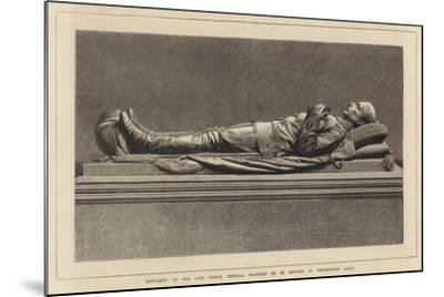 Monument to the Late Prince Imperial Proposed to Be Erected in Westminster Abbey--Mounted Giclee Print