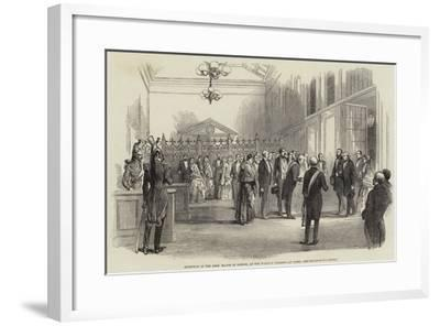 Reception of the Lord Mayor of London, at the Railway Terminus at Paris--Framed Giclee Print