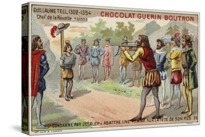 William Tell Is Forced by the Tyrant Gessler to Shoot an Apple from His Son's Head--Stretched Canvas Print