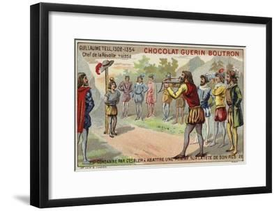 William Tell Is Forced by the Tyrant Gessler to Shoot an Apple from His Son's Head--Framed Giclee Print