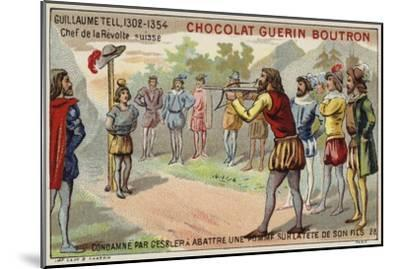 William Tell Is Forced by the Tyrant Gessler to Shoot an Apple from His Son's Head--Mounted Giclee Print