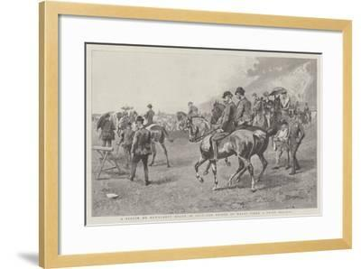 A Sketch on Newmarket Heath in July, the Prince of Wales Takes a Brief Holiday--Framed Giclee Print