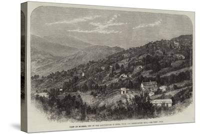 View of Murree, One of the Sanitariums in India, from the Observatory Hill--Stretched Canvas Print
