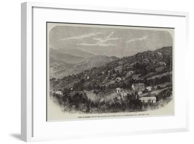 View of Murree, One of the Sanitariums in India, from the Observatory Hill--Framed Giclee Print