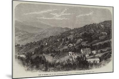 View of Murree, One of the Sanitariums in India, from the Observatory Hill--Mounted Giclee Print