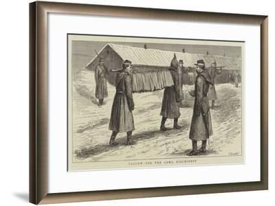 The Eastern Question, with the Russians, Tallow for the Camp, Kischineff--Framed Giclee Print
