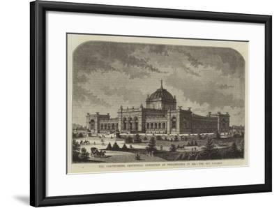 The Forthcoming Centennial Exhibition at Philadelphia in 1876, the Art Gallery--Framed Giclee Print