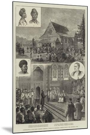 Consecration of the Bishop Patteson Memorial Church (St Barnabas), Norfolk Island--Mounted Giclee Print