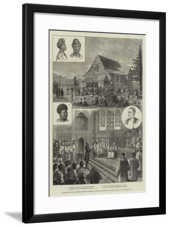 Consecration of the Bishop Patteson Memorial Church (St Barnabas), Norfolk Island--Framed Giclee Print