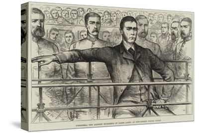 O'Donnell, the Alleged Murderer of James Carey, at Bow-Street Police Court--Stretched Canvas Print