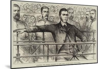 O'Donnell, the Alleged Murderer of James Carey, at Bow-Street Police Court--Mounted Giclee Print