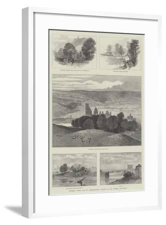 Prudhoe Castle and its Neighbourhood, Visited by the British Association--Framed Giclee Print