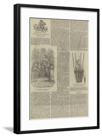 Illustrated News, a Sketch of the Rise and Progress of Pictorial Journalism--Framed Giclee Print