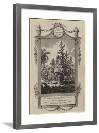 The King of Cochin-China Riding on an Elephant, Attended by His Nayos or Guards--Framed Giclee Print