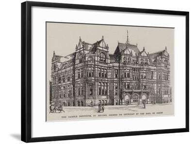 The Gamble Institute, St Helens, Opened on Thursday by the Earl of Derby--Framed Giclee Print