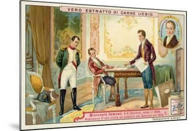Napoleon Negotiating a Loan with French Banker Gabriel-Julien Ouvrard, 1815--Mounted Giclee Print