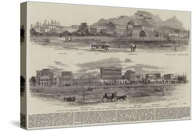 View of the Esplanade, Calcutta, Taken from the Foot of the Ochterlony Monument--Stretched Canvas Print