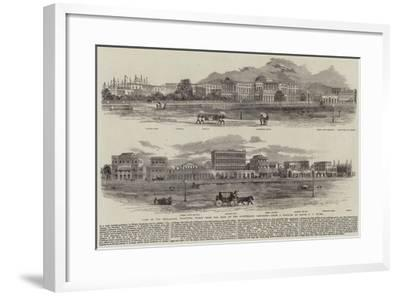 View of the Esplanade, Calcutta, Taken from the Foot of the Ochterlony Monument--Framed Giclee Print