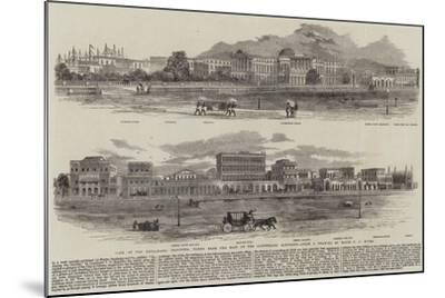 View of the Esplanade, Calcutta, Taken from the Foot of the Ochterlony Monument--Mounted Giclee Print