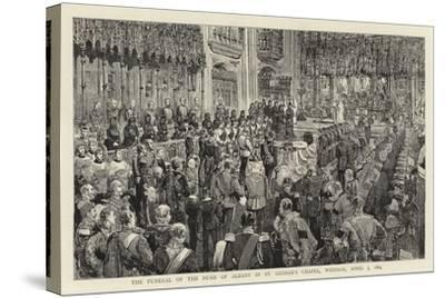 The Funeral of the Duke of Albany in St George's Chapel, Windsor, 5 April 1884--Stretched Canvas Print