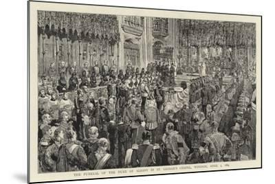 The Funeral of the Duke of Albany in St George's Chapel, Windsor, 5 April 1884--Mounted Giclee Print