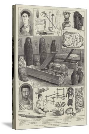 Egyptian, Greek, and Roman Antiquities Discovered by Mr Flinders Petrie--Stretched Canvas Print
