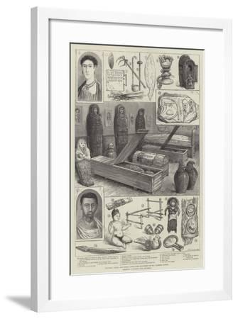 Egyptian, Greek, and Roman Antiquities Discovered by Mr Flinders Petrie--Framed Giclee Print