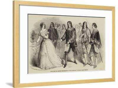 Scene from the Amateur Performance of The Hunchback, at the St James's Theatre--Framed Giclee Print