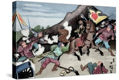 First Sino-Japanese War (1894-1895). Conflict Between Qing Dynasty China and Meiji Japan. Coloured--Stretched Canvas Print