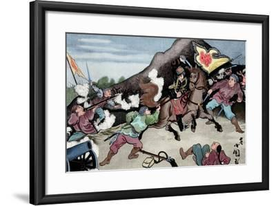 First Sino-Japanese War (1894-1895). Conflict Between Qing Dynasty China and Meiji Japan. Coloured--Framed Giclee Print
