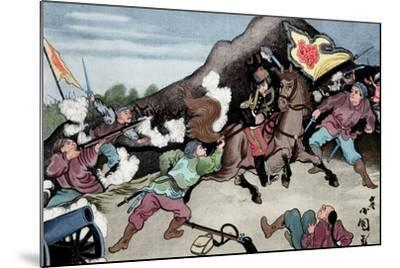 First Sino-Japanese War (1894-1895). Conflict Between Qing Dynasty China and Meiji Japan. Coloured--Mounted Giclee Print