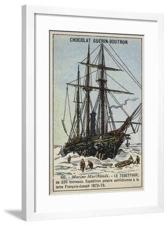 Tegetthof, Ship Used on the Austro-Hungarian Polar Expedition of 1872-1873--Framed Giclee Print