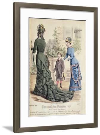 Paris Fashion, from 'Journal Des Demoiselles', Published Dupuy Paris, 1879--Framed Giclee Print