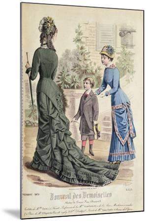 Paris Fashion, from 'Journal Des Demoiselles', Published Dupuy Paris, 1879--Mounted Giclee Print