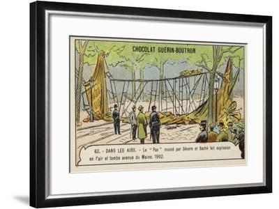 Wreckage of Severo and Sache's Airship Pax, Avenue De Maine, Paris, 1902--Framed Giclee Print