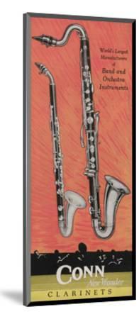 A Charles Gerard Conn Giant Boehm Alto 40-N Clarinet and Giant Boehm Bass 50-N Clarinet--Mounted Giclee Print
