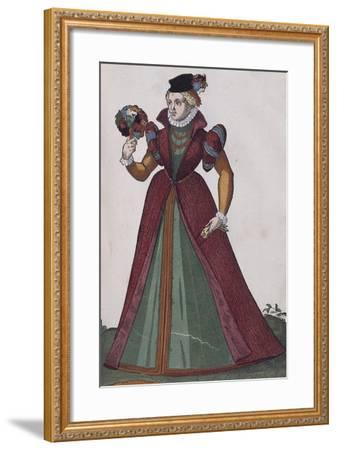 Noblewoman from Ferrara, from Habitus Praecipuorum Popularum, 1577, by Jost Amman (1539 - 1591)--Framed Giclee Print