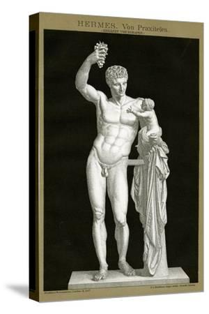 Hermes and the Infant Dionysos Attributed to Praxiteles C.1895 (Colour Chromolithograph)--Stretched Canvas Print