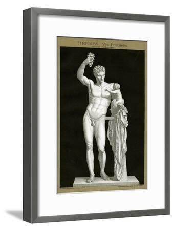 Hermes and the Infant Dionysos Attributed to Praxiteles C.1895 (Colour Chromolithograph)--Framed Giclee Print